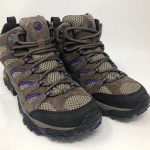 Merrell Womens Moab Mid Vent Bracken/Purple J65586